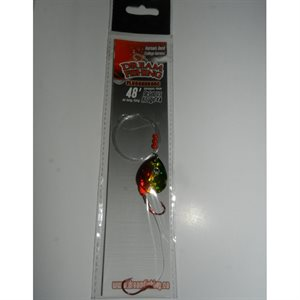 """Walleye Harness Indiana 48"""" Holo Golden Perch"""