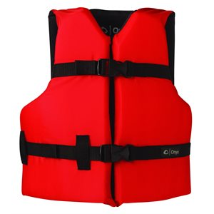 ONYX General Purpose Life Jacket Youth 55-88LB Red